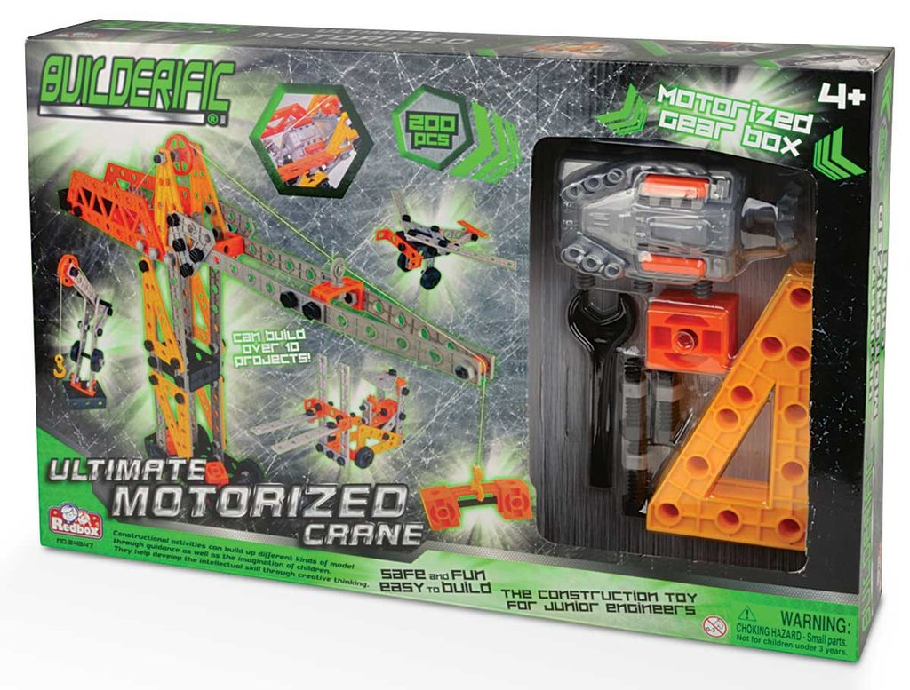 Builderific - 200 Piece Ultimate Motorized Crane