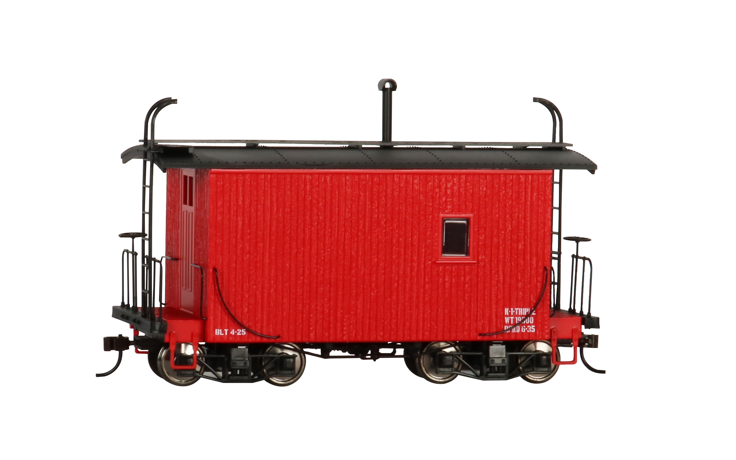 18 ft. Logging Caboose - Caboose Red, Data Only (On30)