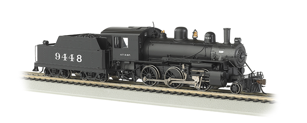 Santa Fe #9448 - DCC Sound Value (HO ALCO 2-6-0)