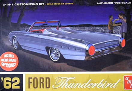 1/25 Scale 1962 Ford Thunderbird 2 in 1 Model Kit