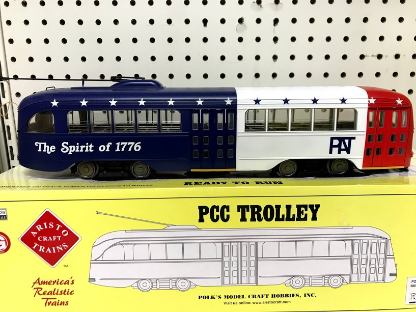 Aristocraft 23376S2 PCC Trolley Pittsburgh R-W-B