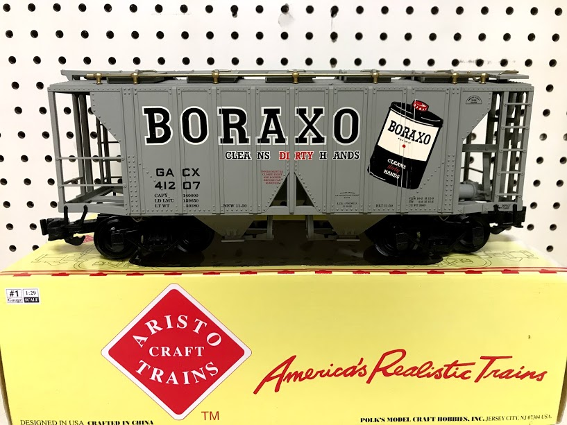 Aristocraft 41207 Borax 2-Bay Covered Hopper Car