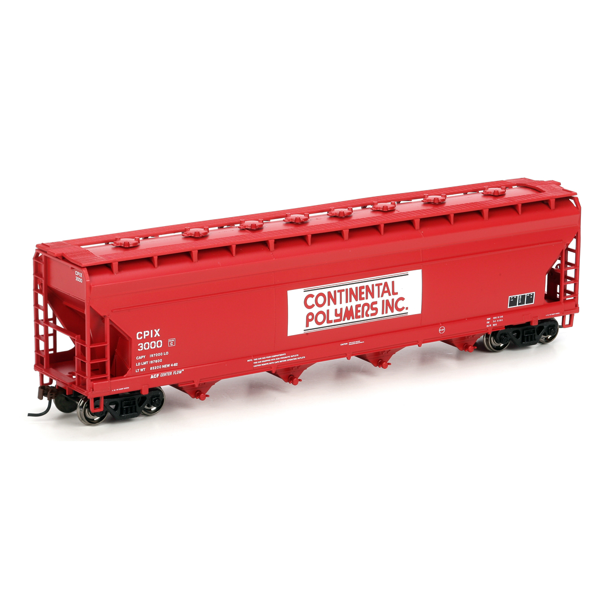 HO RTR ACF Centerflow Hopper, Continental #3000