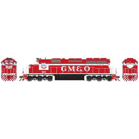 HO RTR SD40 w/DCC & Sound, GM&O/Red & White #920