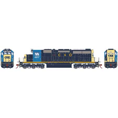 HO RTR SD40 w/DCC & Sound, CSX/Ex-C&O #4617