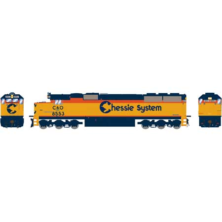 HO RTR SD50 w/DCC & Sound,CSX/Chessie Patched#8553