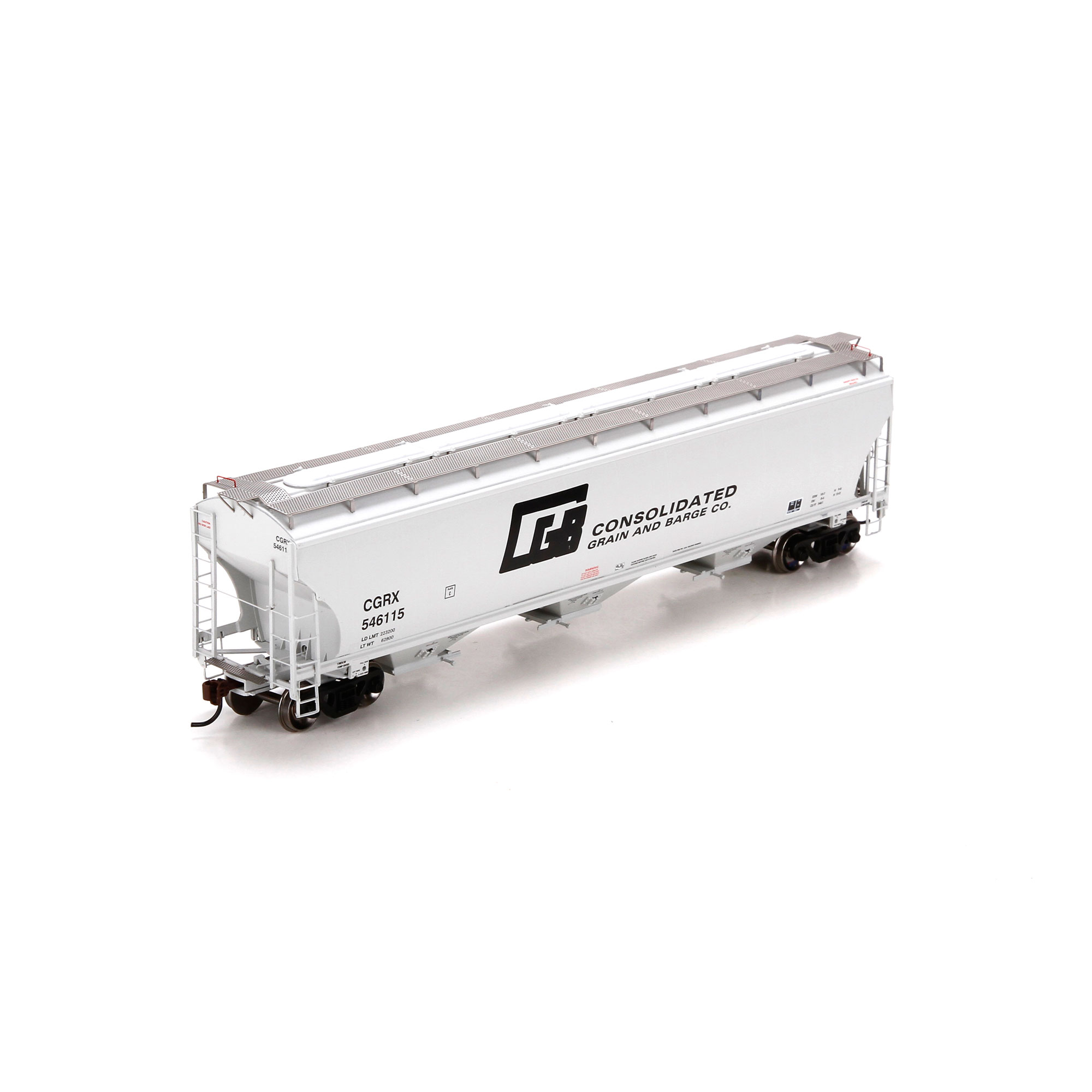 HO RTR Trinity 3-Bay Covered Hopper, CGB #546115