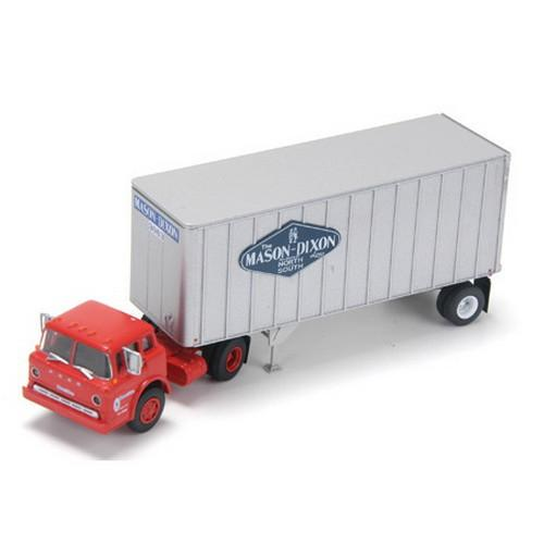 Ford C w/28' Exterior Post Trailer, Mason
