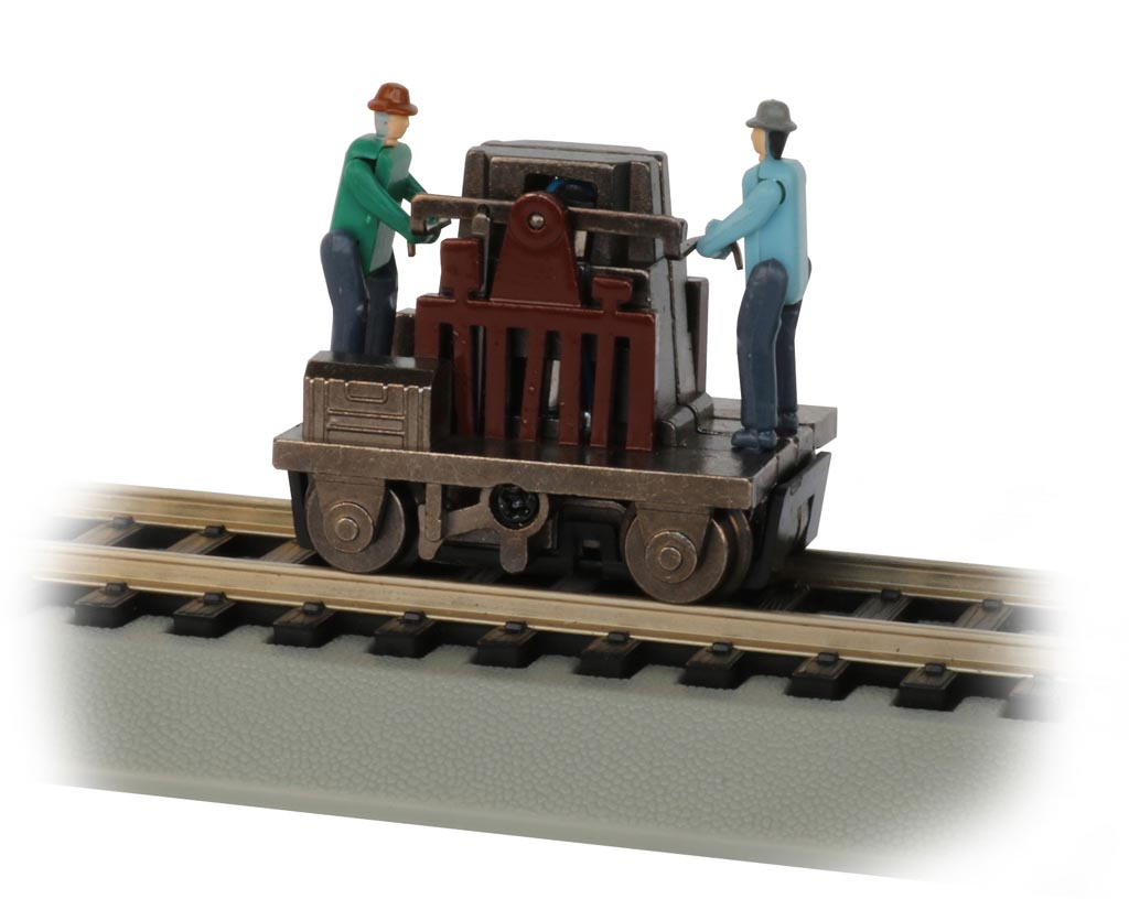 Gandy Dancer Operating Hand Car - Brown (HO Scale)