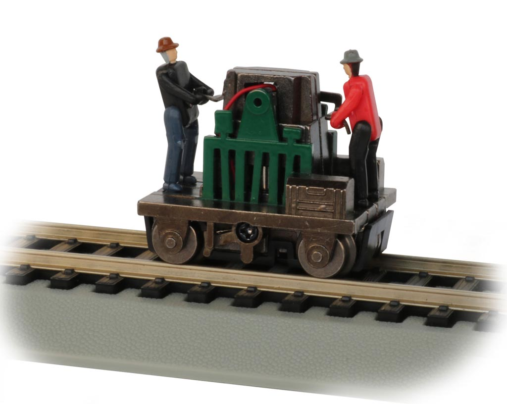 Gandy Dancer Operating Hand Car - Green (HO Scale)