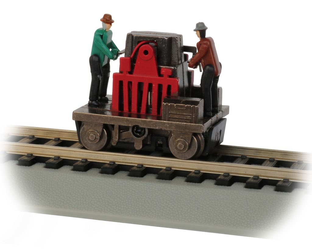 Gandy Dancer Operating Hand Car - Red (HO Scale)