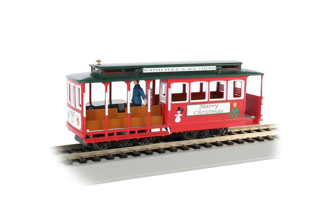 Christmas - Cable Car with Grip Man (HO Scale)