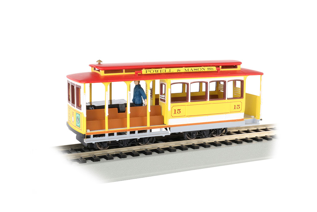 Yellow & Red - Cable Car with Grip Man (HO Scale)