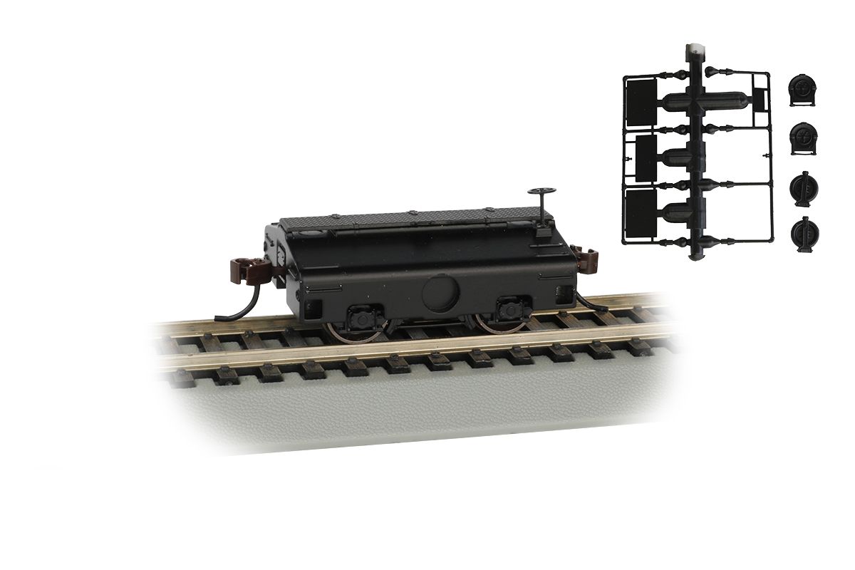 Painted, Unlettered (Black) - Test Weight Car (HO Scale)