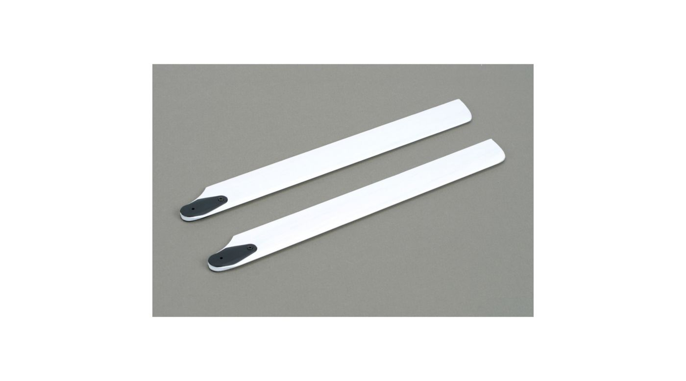 245mm Wood Main Rotor Blade Set, White: BSR
