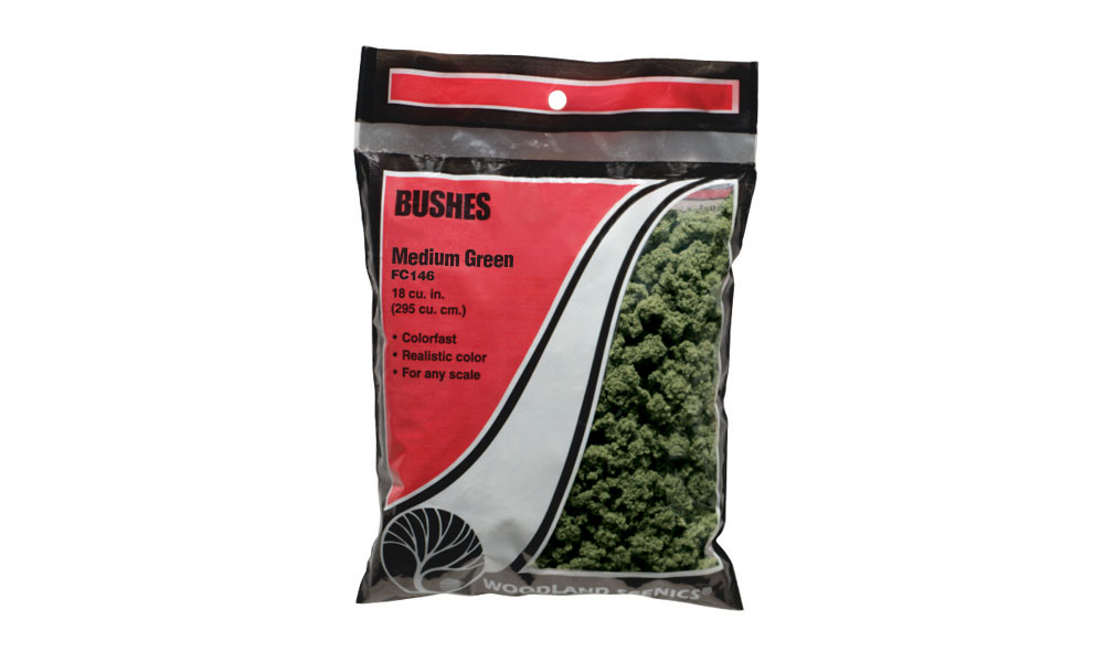 Bushes Medium Green Bag