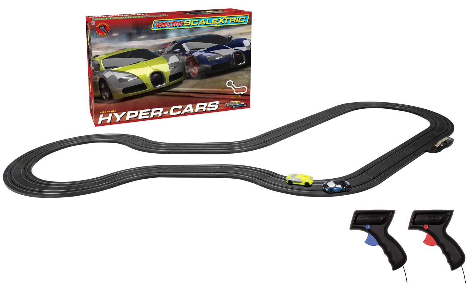 No.G1108T MICRO SCALEXTRIC HYPER-CARS SET