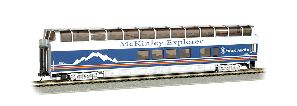 McKinley Explorer Chena#1052 -89' Colorado Railcar Full-Dome HO