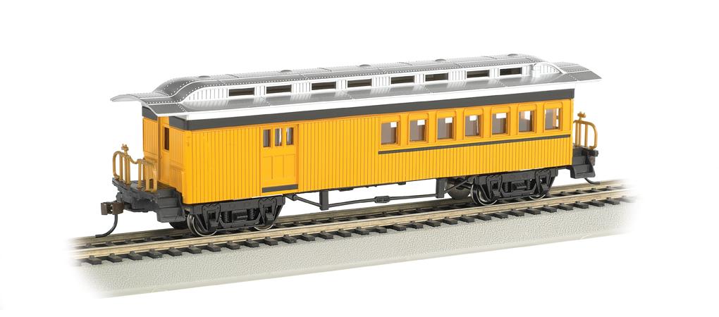 Bachmann 13405 Green Unlettered Coach Passenger Car 1860-80 Era HO Scale Trains