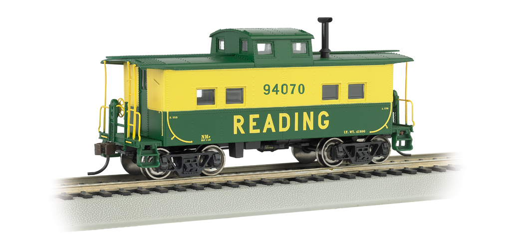 Reading #94070 (Green & Yellow) - NE Steel Caboose (HO Scale)