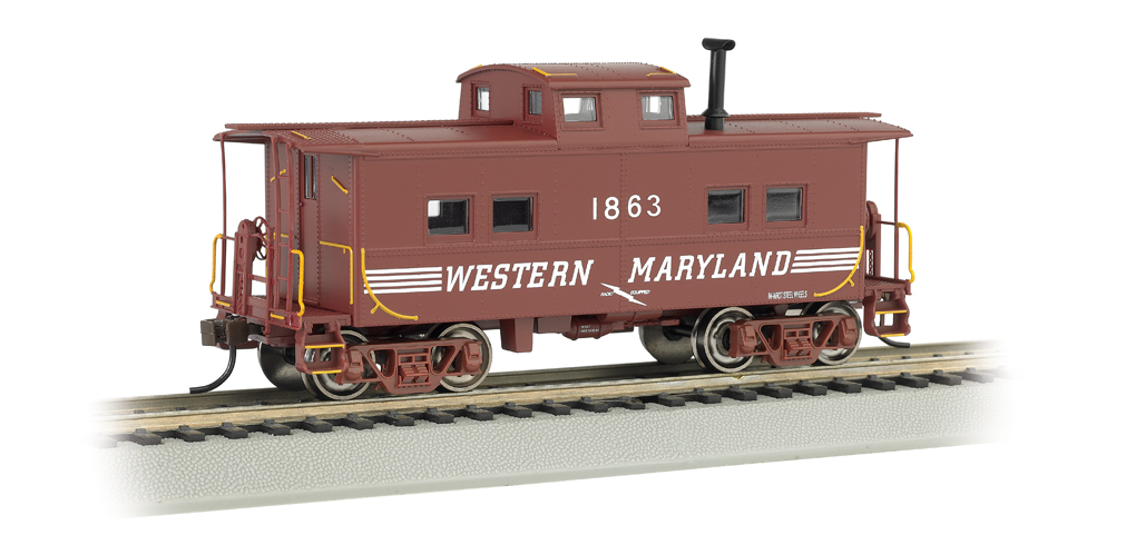 Western Maryland #1863 (Speed Lettering) - NE Steel Caboose