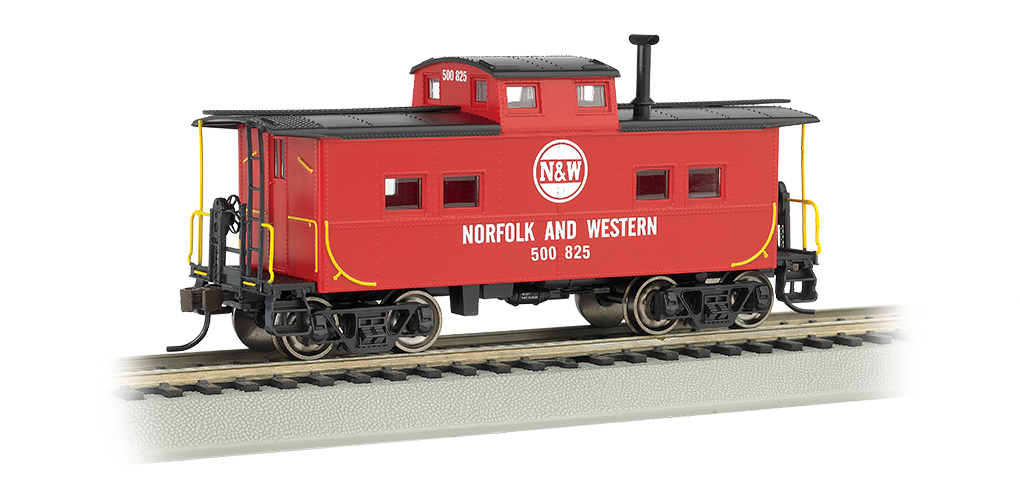 Norfolk & Western - Red #500 825 - NE Steel Caboose (HO)