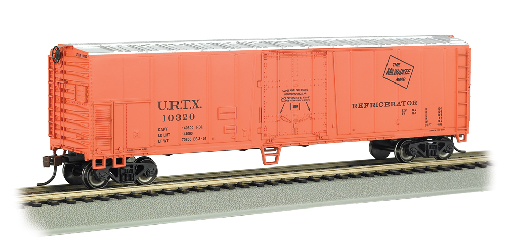 Milwaukee Road - 50' Steel Reefer (HO Scale)