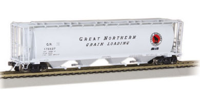 Great Northern - 4 Bay Cylindrical Grain Hopper (HO Scale)