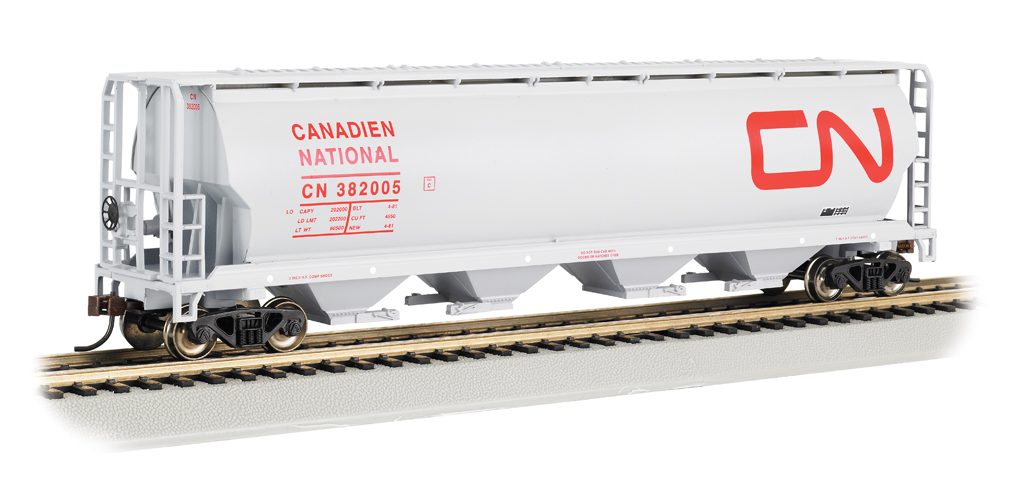 Canadian National - 4 Bay Cylindrical Grain Hopper (HO Scale)