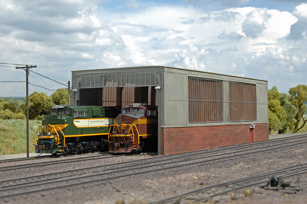 Double Stall Shed (HO Scale)
