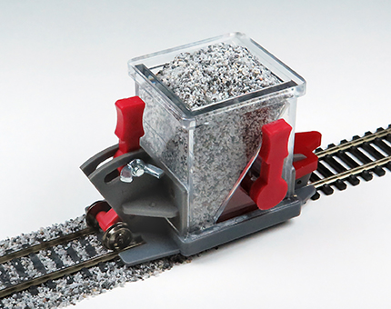 Ballast Spreader with Shutoff and Height Adjustment (HO Scale)