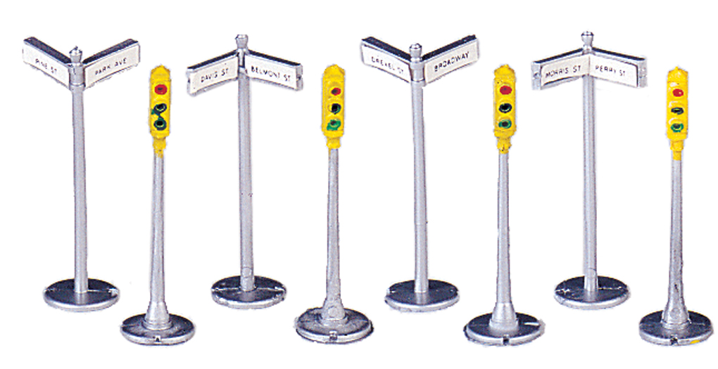 Signs & Traffic Lights (12 pieces)