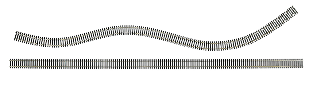 "36"" Nickel Silver Flex Track (25 pieces/box) (HO Scale)"