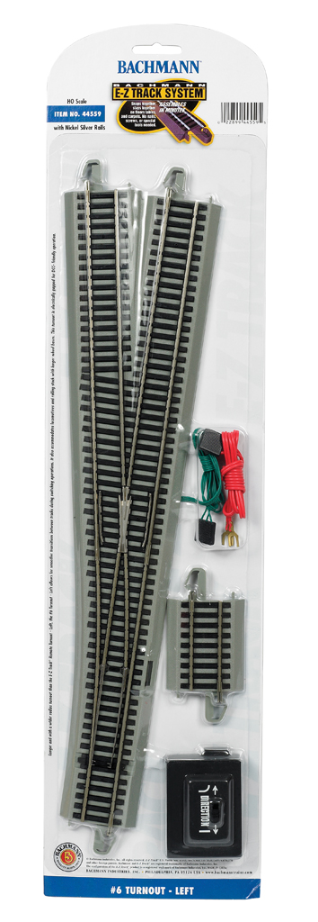 #6 Turnout - Left (HO Scale)