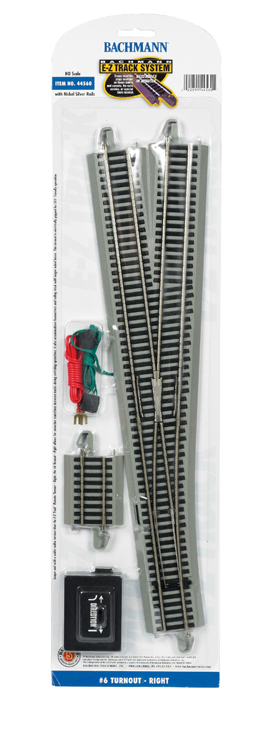 #6 Turnout - Right (HO Scale)