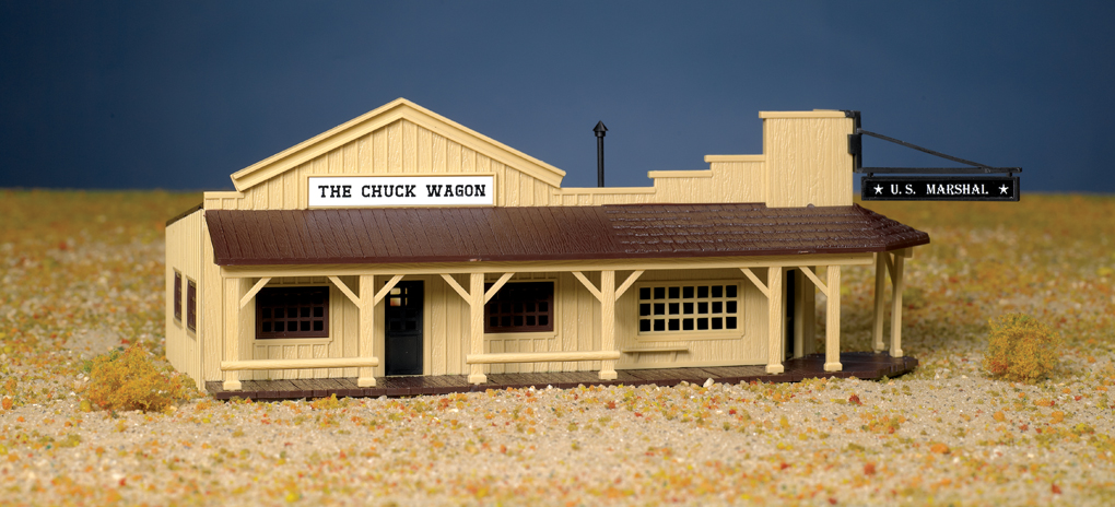Marshal's Office And Restaurant (HO Scale)