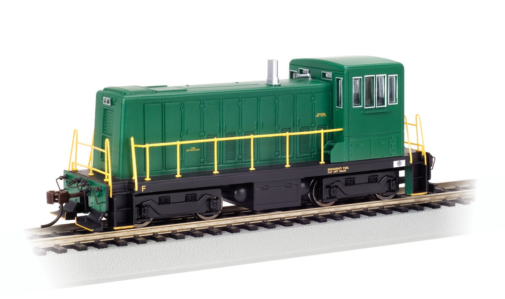 Painted Unlettered - Green - GE 70-Ton - DCC (HO Scale)