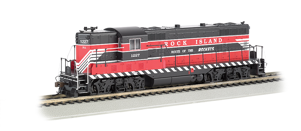 Rock Island #1227 (Red, Black & White) - GP7 - DCC Sound Value