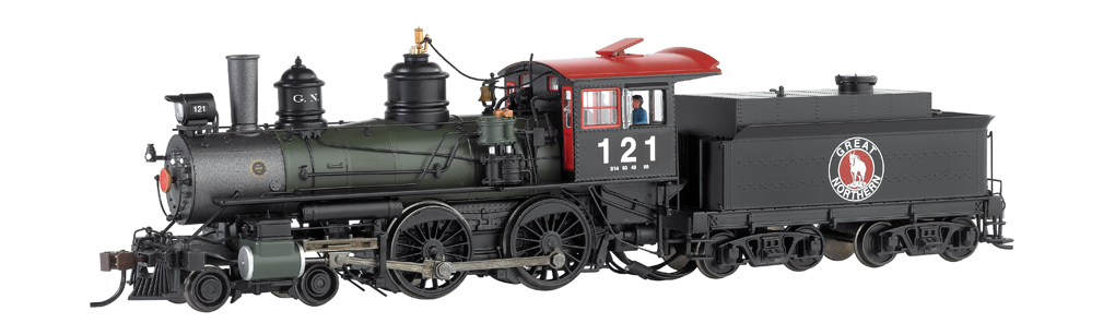 Great Northern #121 - Baldwin Modern 4-4-0 - DCC (HO Scale)