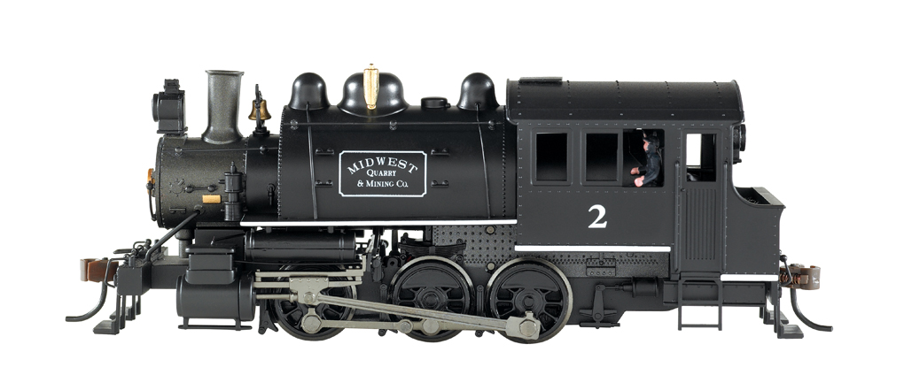 Midwest Quarry & Mining Co. #2 - 0-6-0 Saddle Tank -DCC
