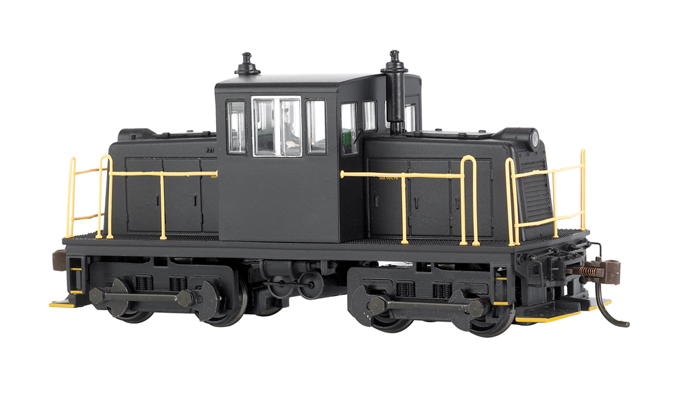Painted, Unlettered - Black - GE 45 Ton Switcher - DCC