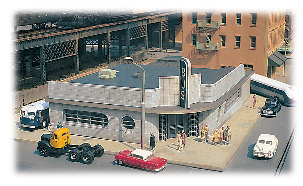 Bus Station - Cityscenes™ Building Kit (HO Scale) [BAC88005