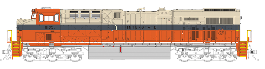 Interstate - NS Heritage - GE ES44AC - DCC Sound Value (HO