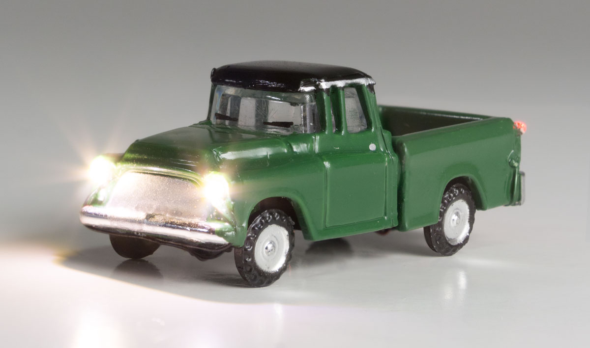 Green Pickup - N Scale