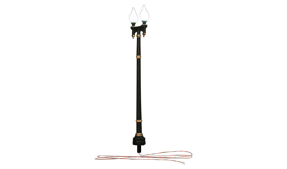 Double Lamp Post Street Lights - HO Scale