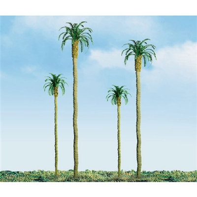 PALM TREES 4'' PRO, 3/pk HO SCALE