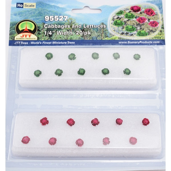 "CABBAGES & LETTUCE 1/4"" Tall HO Scale, 20/pk"
