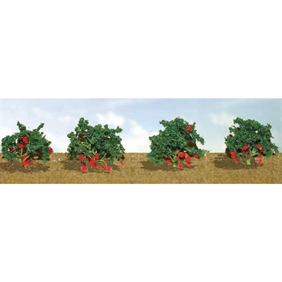 "STRAWBERRIES, 3/4"" High, O Scale, 8/pk."