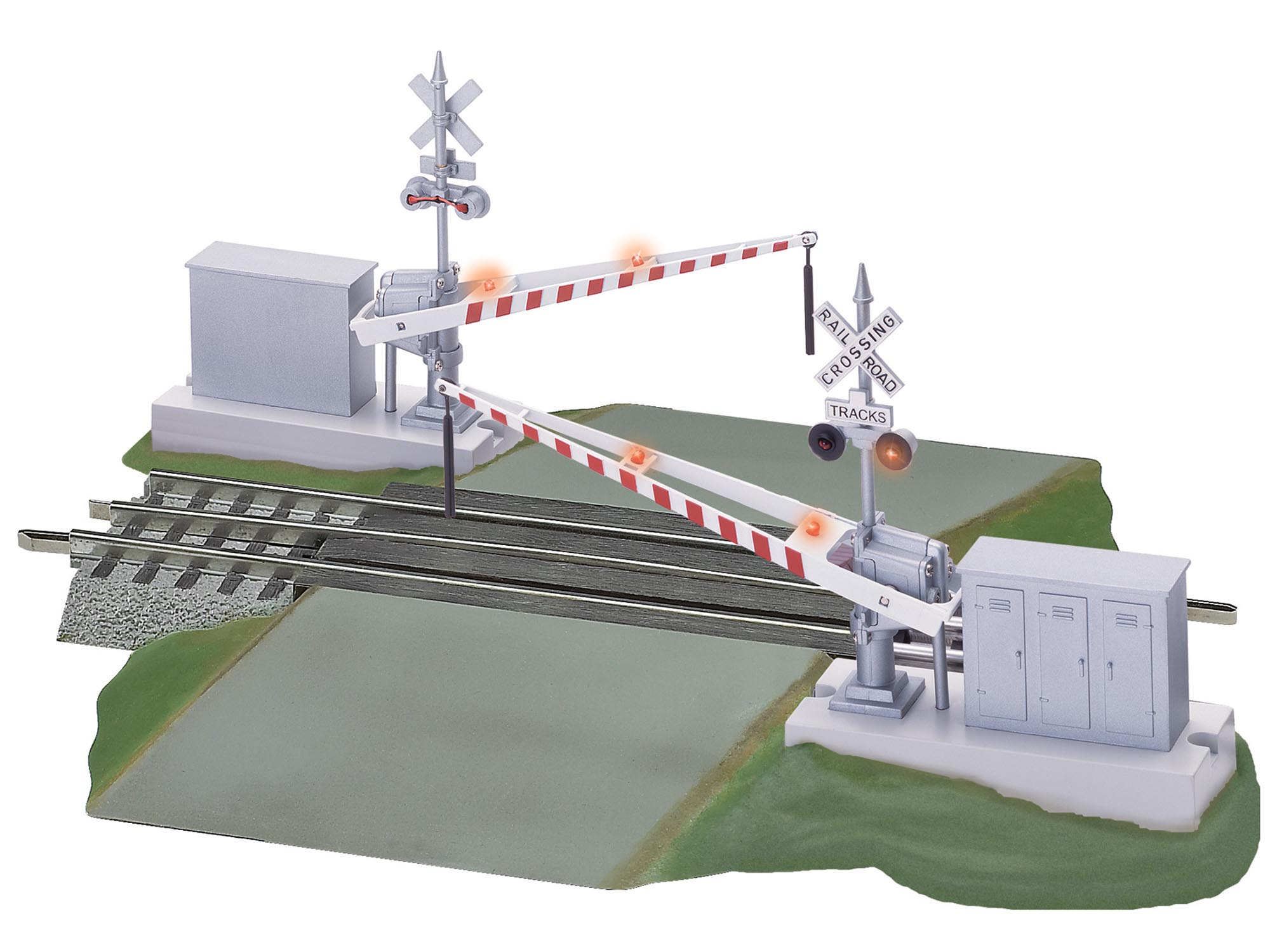 6-12062 FASTRACK GRADE CROSSING WITH GATES AND FLASHERS