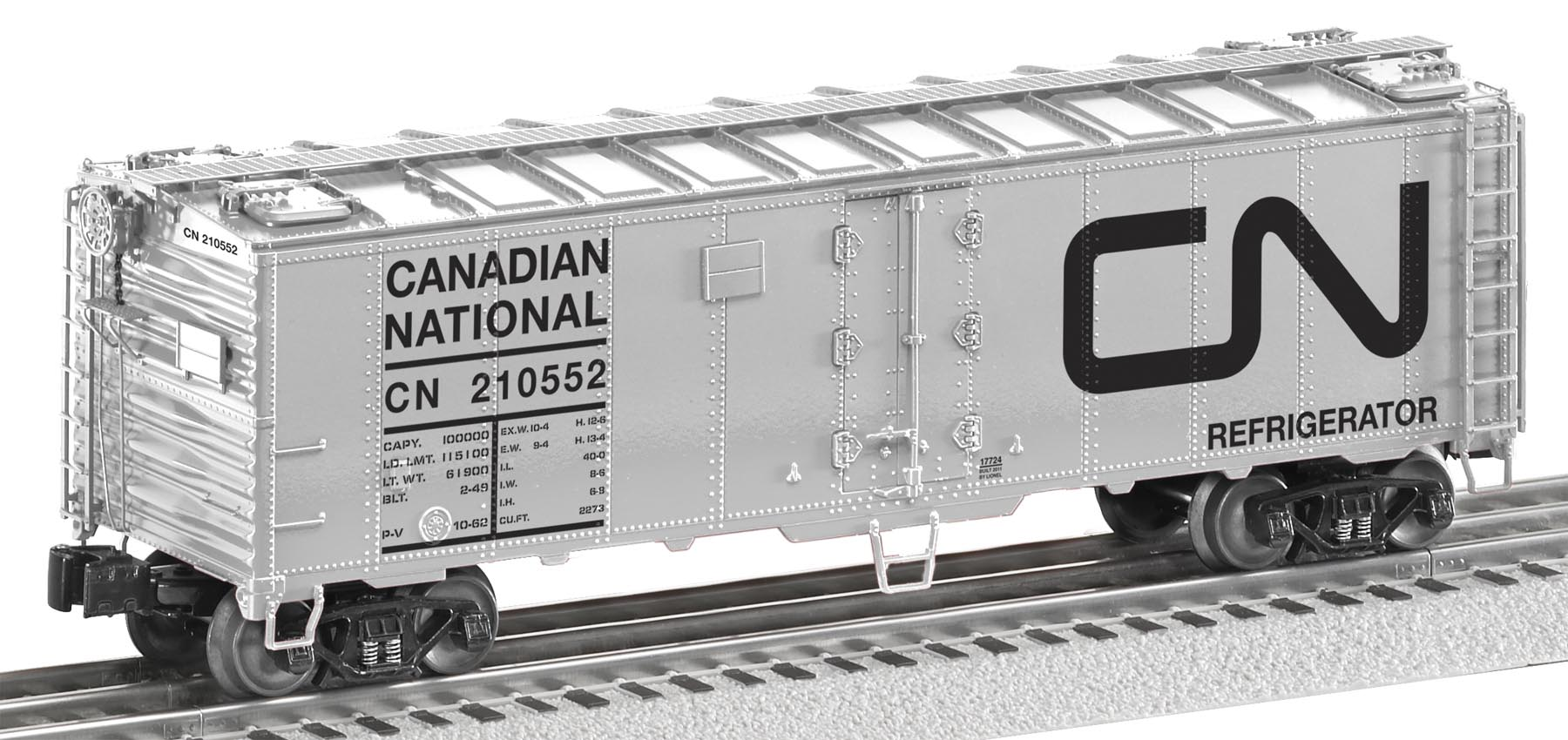 6-17724 CANADIAN NATIONAL STEEL-SIDED REFRIGERATOR CAR #210552